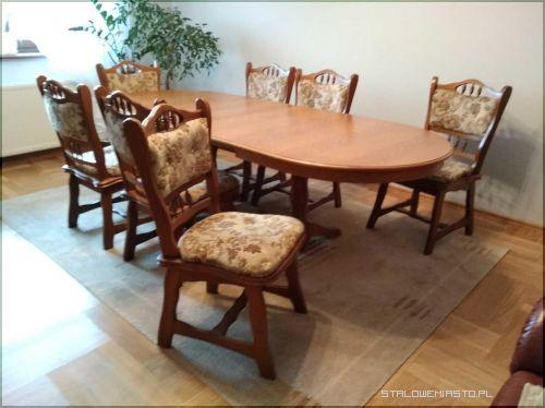 Ogłoszenia Meble Stół Dębowy Z Krzesłami